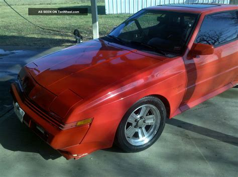 chrysler conquest tsi   turbo charged  speed red