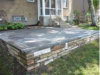 great concrete slab patio design ideas Patios Ideas: Raised Concrete Patio Ideas Raised Concrete ...