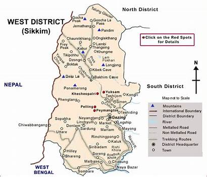 Sikkim West Map Road Tourism State Tour