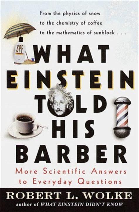 einstein told  barber  scientific answers