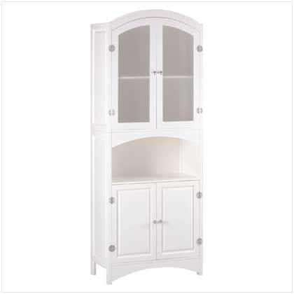 wholesale tall bathroom linen cabinet glass doors white wood