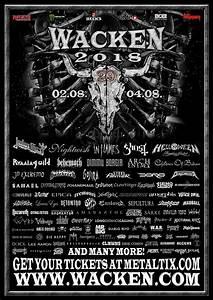 Agenda Concerts-Metal | Wacken Open Air 2018 - 02/08/2018 ...