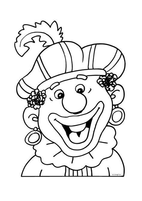 Kleurplaat Zwarte Piet Hoofd by 35 Best Kleurplaten Sinterklaas Images On