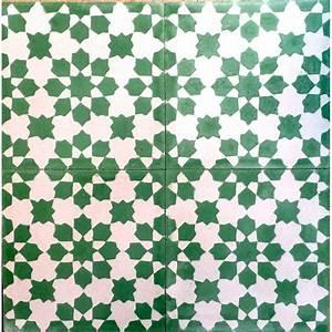 carrelage de carreaux en ciment mur et sol prisma vert With carreaux de ciment vert