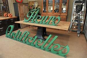 french metal flower shop facade big sign metal letters With french shop metal letters