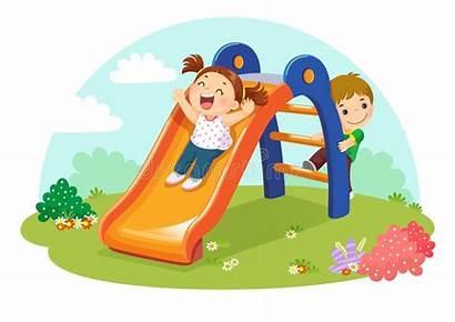 Slide Playground Fun Clipart Having Vector Playtime