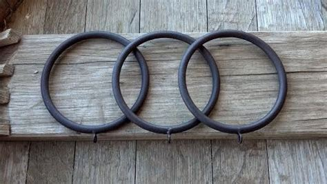 large rustic iron rings curtain drapery rings with