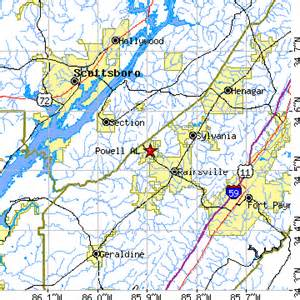 Rainsville Alabama Map
