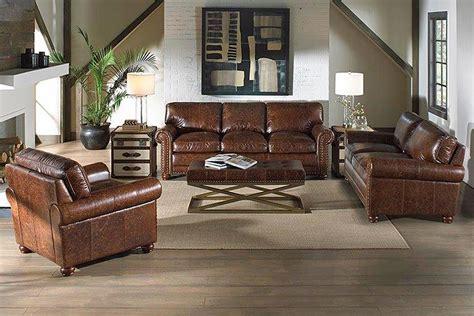 covington quick ship  piece leather sofa loveseat