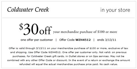 19659 Coldwater Creek Free Shipping Coupon Code by Coldwater Creek Coupon Code April 2018 Bobby Qs Westport