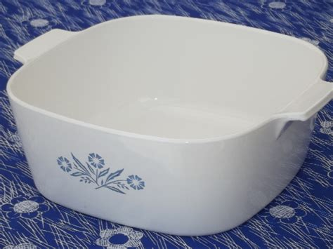 big  qt corningware casserole vintage blue cornflower