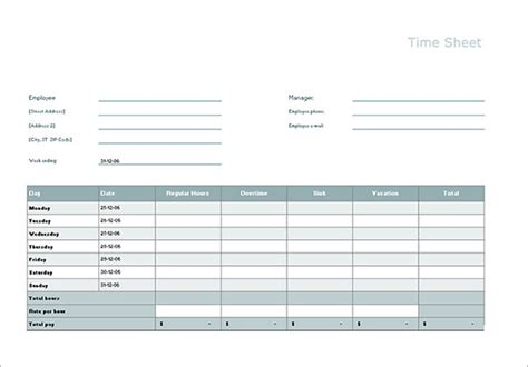 17 Timesheet Calculator Templates To Download For Free