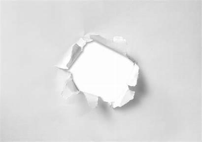 Hole Paper Torn Through Round Broken Circle
