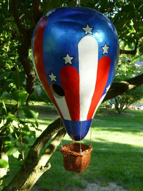 hot air balloon gourd birdhouse pictures