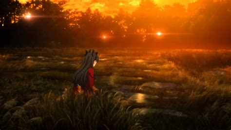 fate stay night unlimited blade works  park scene eng