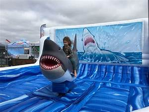 Inflatable Mechanical Shark Ride - Lets Party  Ride