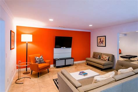 Formal Living Room Accent Wall by Orange Accent Wall Living Room Idea Orange