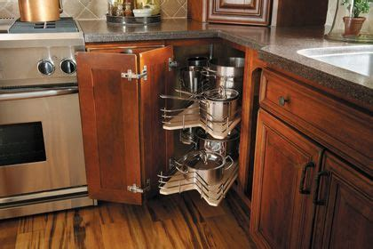 StarMark Cabinetry Square Base Corner with Revolving Slide