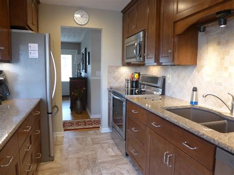 1960's Small Galley Kitchen Remodeled Before And After