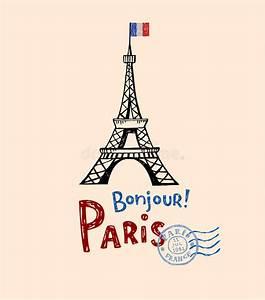 Paris Post Card Stock Vector - Image: 51535175