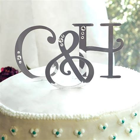 cake topper letters swarovski accent letter cake toppers