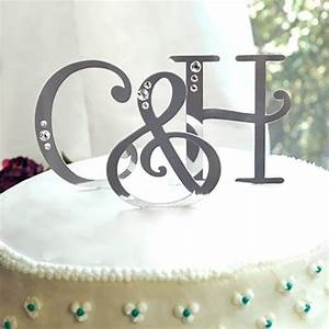 swarovski accent letter cake toppers With swarovski cake topper letters