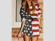 dress, american flag, red white and blue, stars and