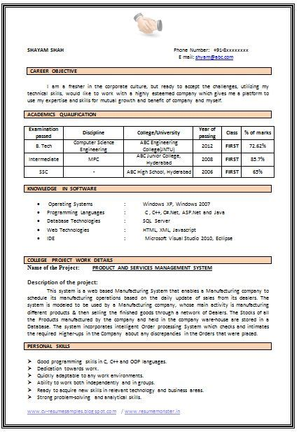 resume for cse freshers pdf 759 best images about career on company exle of resume and curriculum