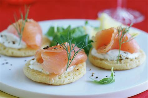 posh canapes recipes smoked salmon recipes goodtoknow