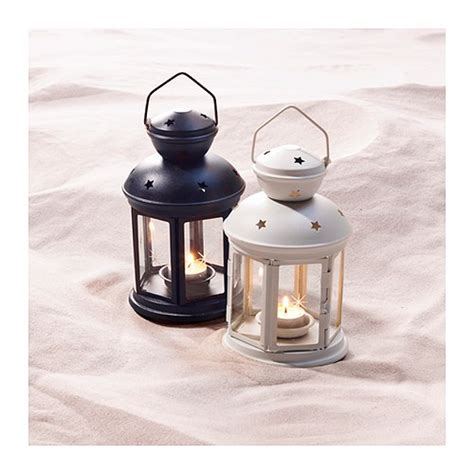 rotera lantern for tealight in outdoor white 21 cm ikea