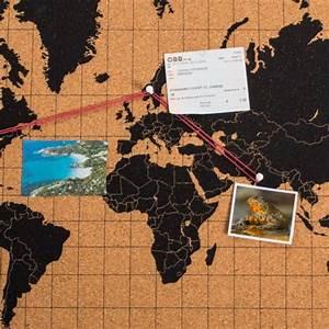 Pinnwand Weltkarte Kork : kork pinnwand weltkarte geschenk f r ~ Markanthonyermac.com Haus und Dekorationen