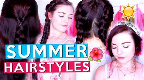 Heatless Summer Hairstyles ☀️ For Medium/long Hair!