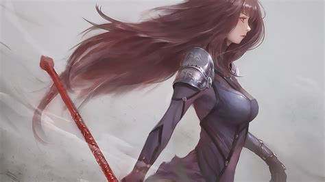 scathach fate grand order artwork laptop full hd