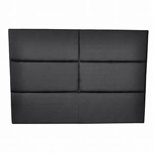 Tete De Lit Noire 140 : tete de lit simili cuir noir tete lit simili cuir noir sur enperdresonlapin ~ Teatrodelosmanantiales.com Idées de Décoration