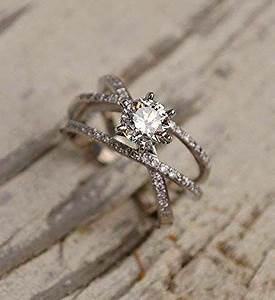 christian x plus double layered stunning crossing rings With 3 crossing wedding bands ring