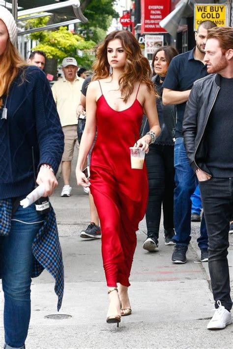 Sexy Selena Gomez Shows Off Risque Red Outfits Nyc