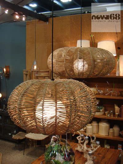 maori modern wicker saucer pendant lamp novacom