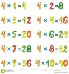 learning 7 times tables multiplication table of 4 stock photos image 25805533