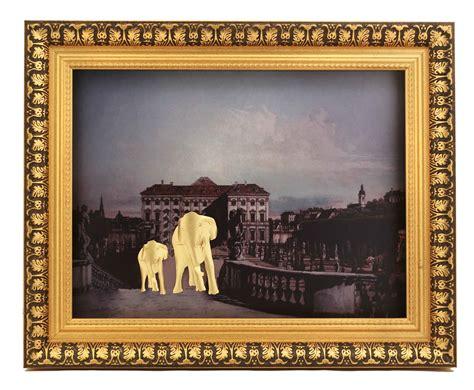 Elephant Home Decor by Elephant Home Decor Gold Frame