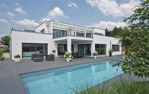Moderne Luxushäuser by Hausdetailansicht Weberhaus Grundrisse Architektur