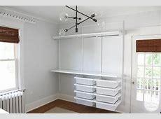 Furniture Interesting Elfa Closet And White Walls Plus