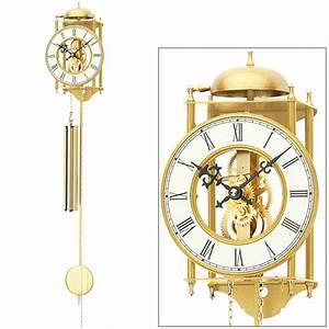 Wanduhr Mit Bildern : ams 303 wanduhr mit pendel mechanisch golden metall pendeluhr skelettuhr ebay ~ Watch28wear.com Haus und Dekorationen
