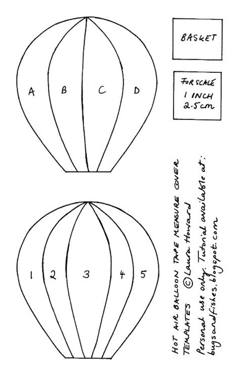 Air Balloon Template How To Sew A Felt Air Balloon Measure Cover