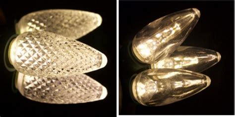 what is the difference between c7 and c9 light bulbs what is the difference between faceted and smooth bulbs