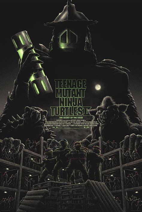 ninja turtles mutant teenage ooze secret ryan matt tobin tmnt poster ii 1991 posters mondo matty release comments