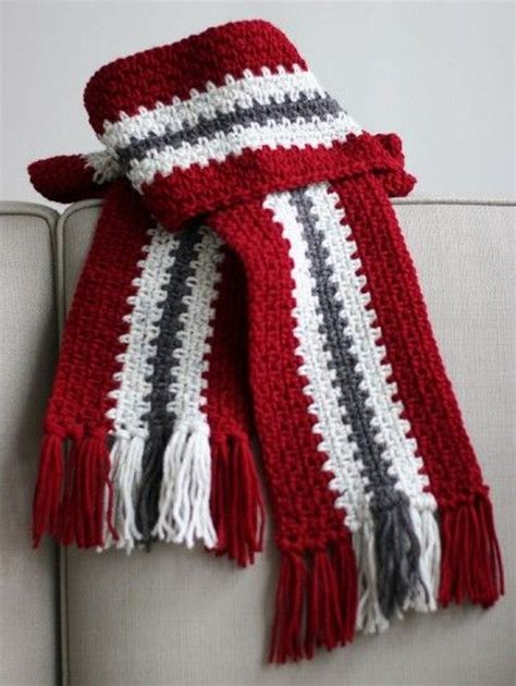 ideas  crochet scarf patterns upcycle art