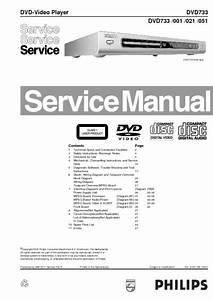 Philips Dvd733  Service Manual  Repair Schematics