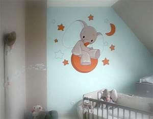 deco de chambre de bebe seb peinture With peinture mur chambre bebe