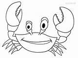 Crab Coloring Pages Drawing Printable Drawings Cool2bkids Kid Print Paintingvalley Getcolorings sketch template