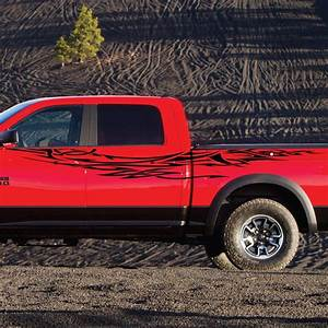 dodge ram rebel tribal pickup logo vinyl decal graphic With truck lettering decals